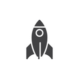Rocket Icon  Filled Flat Sign Solid Pictogram   Startup Symbol Logo Illustration Pixel Perfect Wall Sticker
