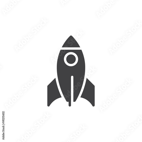 Fototapeta Rocket icon vector, filled flat sign, solid pictogram isolated on white. Startup symbol, logo illustration. Pixel perfect