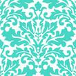 Seamless damask pattern. Blue floral wallpaper