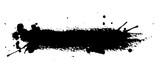 Isolated ink spot on white background. Black paint splash illustration. - 141239020