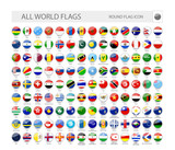 Round World Flags Ve...