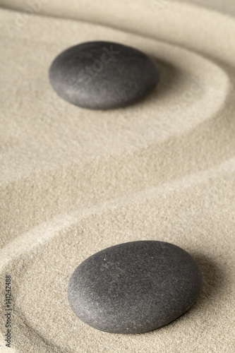 zen meditation stone background, Buddhism stones presenting ying yang for relaxation balance and harmony or spa wellness concept for purity..