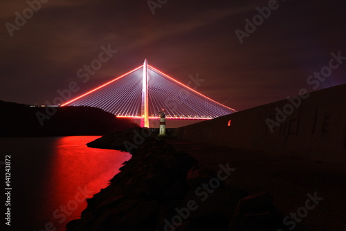 Poster New bridge of Istanbul, Yavuz Sultan Selim Bridge with long exposure