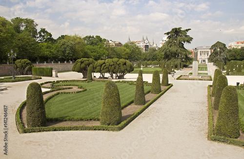 Retiro Park in Madrid, Spain