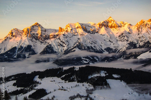 Alpenglühen in Maria Alm Poster
