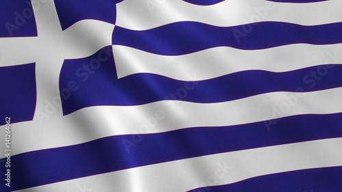 Fotobehang Athene Greece Flag