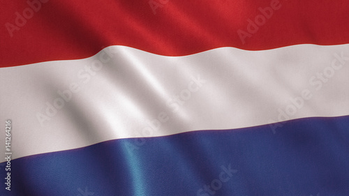 Fotobehang Rotterdam Holland Flag