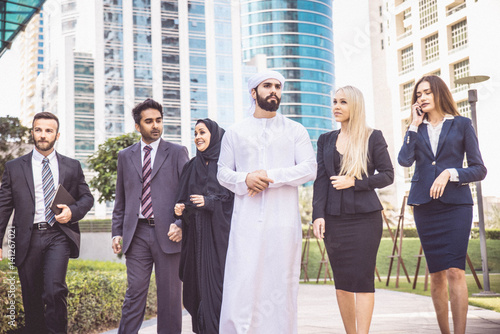 Business people in Dubai Poster