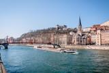 Saint-Georges et vieux Lyon vu des quais de Saône - 141269096