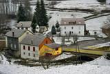 Petit hameau de la Bresse enneigé, Vosges