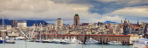 Fotobehang Liguria Genoa - panoramic view of the city