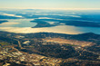 Seattle-Tacoma airport and the southern end of Puget Sound, seen from the air