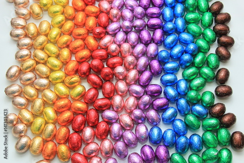 Poster Chocolate easter eggs