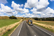Quadro Truck driving in the countryside near Wellington in New Zealand.