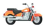 Vintage motorcycle vector icon in flat design
