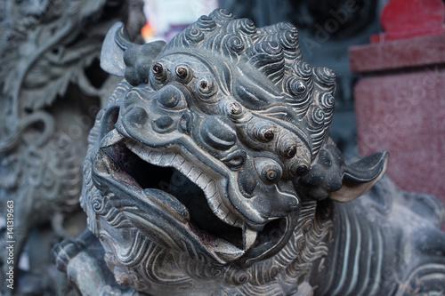 Ornamental sculpture dragon in Malaysia Poster