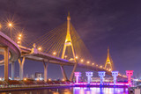 Bhumibol Bridge at night