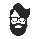 hipster vector icon