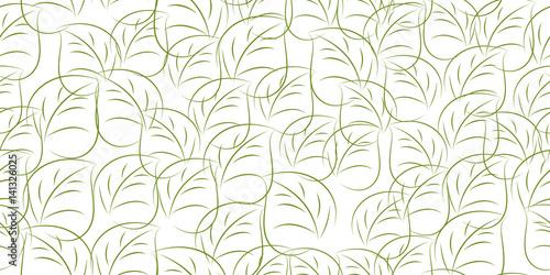 Fototapeta leaves seamless background