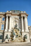 Matthias Fountain at Royal Palace, Buda Castle, Budapest, Hungary