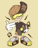 Skate rider t-shirt graphics design vector illustration