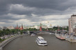 View of the city of Moscow before the rain