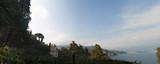 Italia, 16/03/2017: panoramica e paesaggio ligure dal percorso pedonale sulla scogliera che porta da Portofino