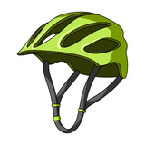Fototapety Protective helmet for cyclists. Protection for the head athletes.Cyclist outfit single icon in cartoon style vector symbol stock illustration.