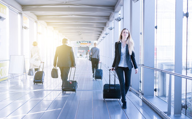 young business woman traveling stock photo © jotily