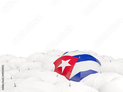 Umbrella with flag of cuba