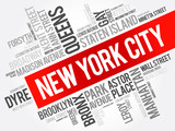 List of streets in New York City, word cloud collage, business and travel concept background - 141360228