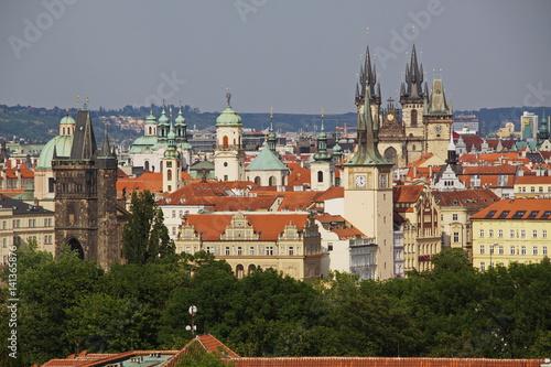 Poster Blick auf die Altstadt von Prag