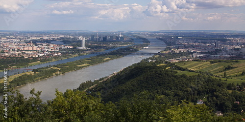 Poster Blick auf Wien vom Leopoldsberg
