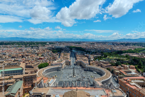 Poster Aerial view of the Vatican and Rome