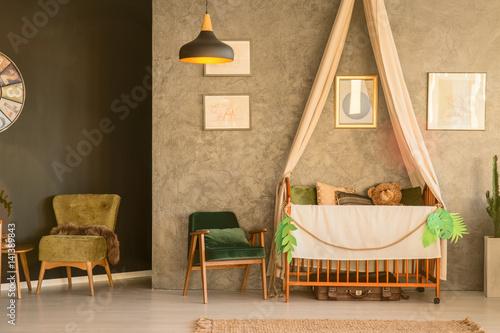 Nursery with a crib