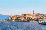 Chorwacja - wyspa Korcula. Miasto i port Korcula. - 141390833
