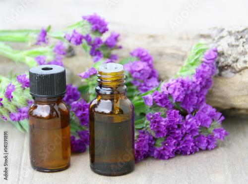 Keuken foto achterwand Lavendel huile essentielle de