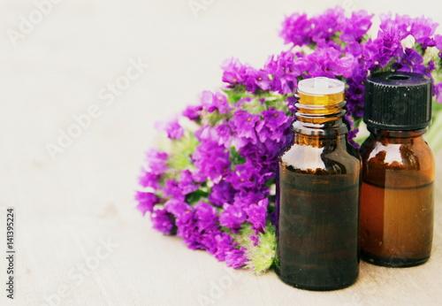 Fotobehang Lavendel huile essentielle de