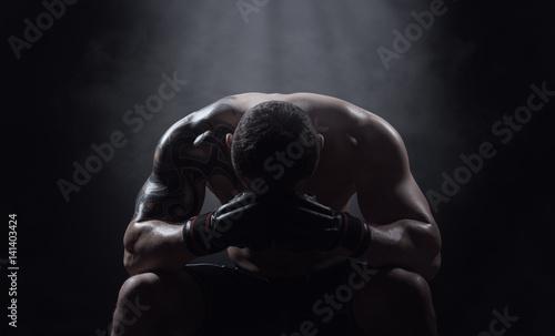 Tuinposter Gymnastiek Boxer