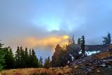 Sunrise over Crater Lake, Oregon
