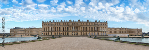 Versailles palace rear facade,symbol of king louis XIV power, France.Panoramic view - 141420803