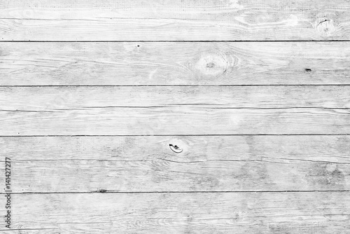 White wood planks background - 141427277