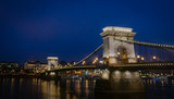 Budapest bridge in night