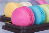 sweet colorful cake macaron
