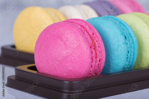 Keuken foto achterwand Macarons sweet colorful cake macaron