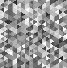 モザイク 三角 モノクロ