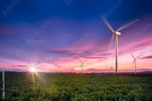 Eolienne énergie renouvelable Poster