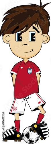 Cute Cartoon Soccer Football Boy