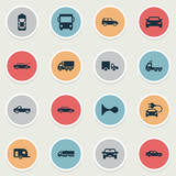 Vector Illustration Set Of Simple Car Icons. Elements Caravan, Repair, Driving And Other Synonyms Haulage, Auto And Delivery.