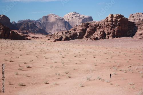 Desert Wadi Rum in Jordan, Middle East Poster